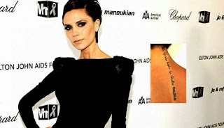 Victoria Beckham Tattoos Meaing| Victoria Beckham Wrist Tattoos