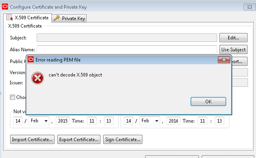 Soa 11g Api Gateway Certificate Import Can Not Decode X509 Object