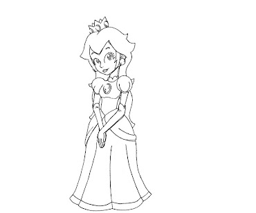 #25 Princess Peach Coloring Page