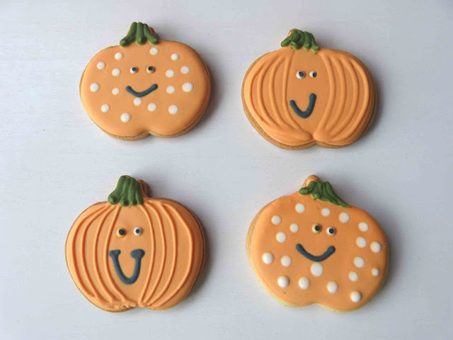 Galletas decoradas Halloween - Calabazas