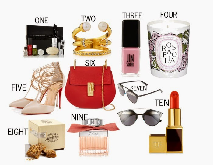 Valentines day, gift ideas, gift shopping, valentine's day gift, fashion blog, chloe drew bag, christian louboutin heels, dior soreal sunnies, netaporter beauty set, tomford lipstick, best gift ever
