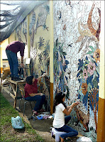 long view of costa rican mosaic project