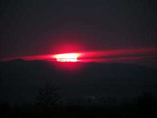 UFO sunset Apuseni Mountain