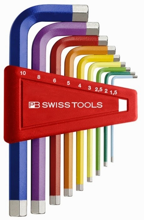 {Design} Swiss made colour coded Allen Wrench