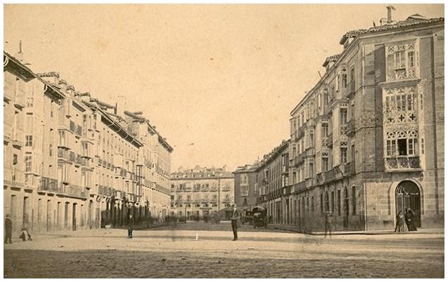 calle prado hacia 1867 vitoria en fotos