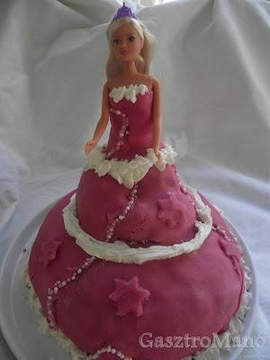 Barbi torta készítés