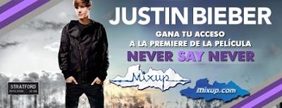 premios pase doble premiere promocion mixup justin bieber Mexico 2011