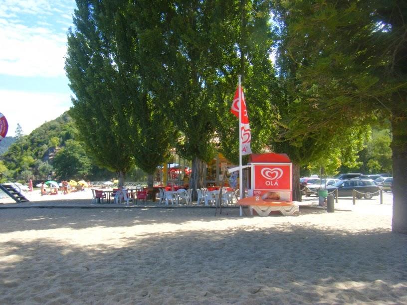 Zona de entrada na praia