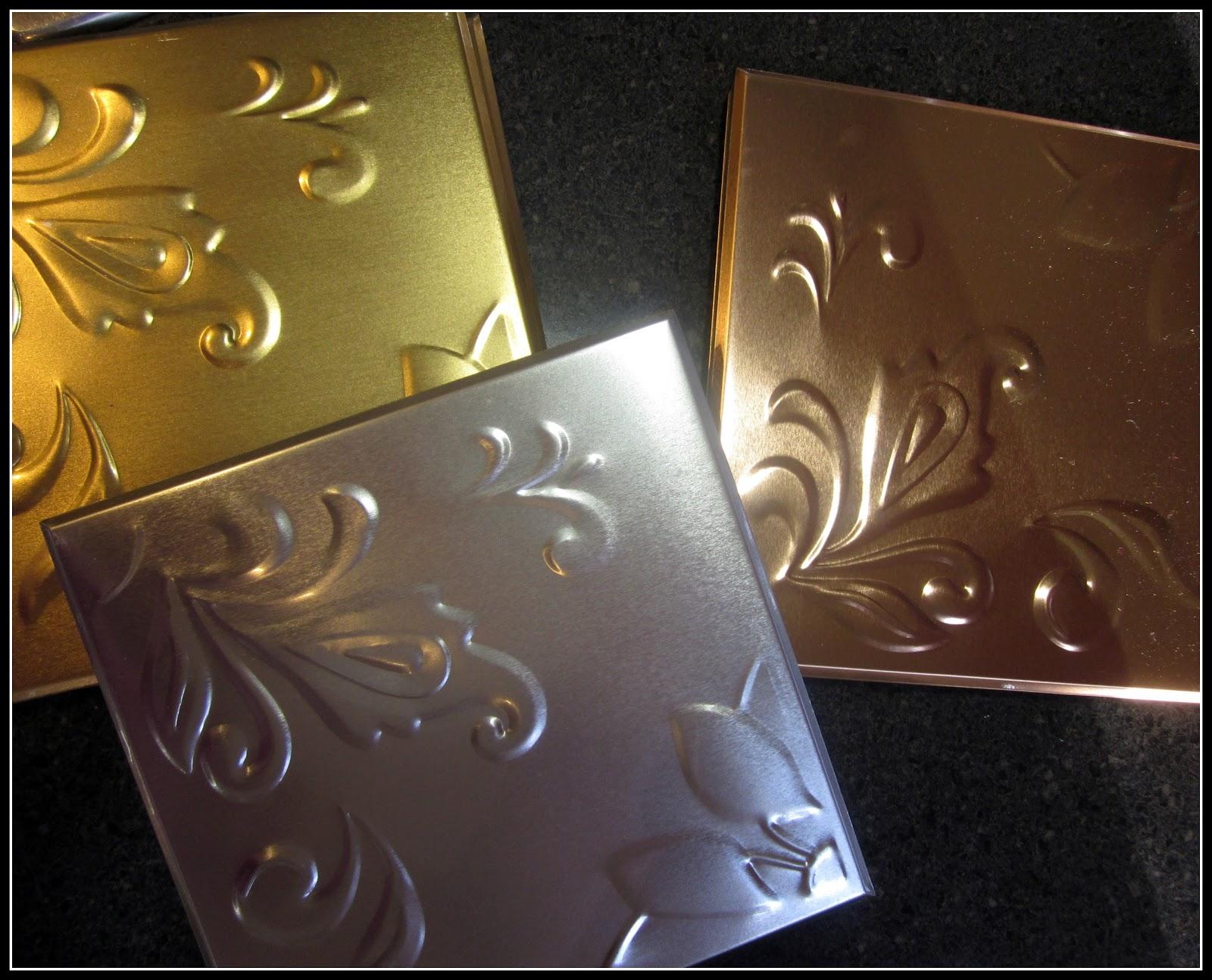Homeroad tin ceiling tile backsplash for Tin ceiling tiles backsplash