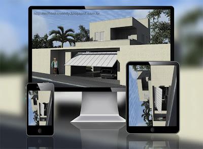 Maquete eletrônica, maquete virtual, 3D