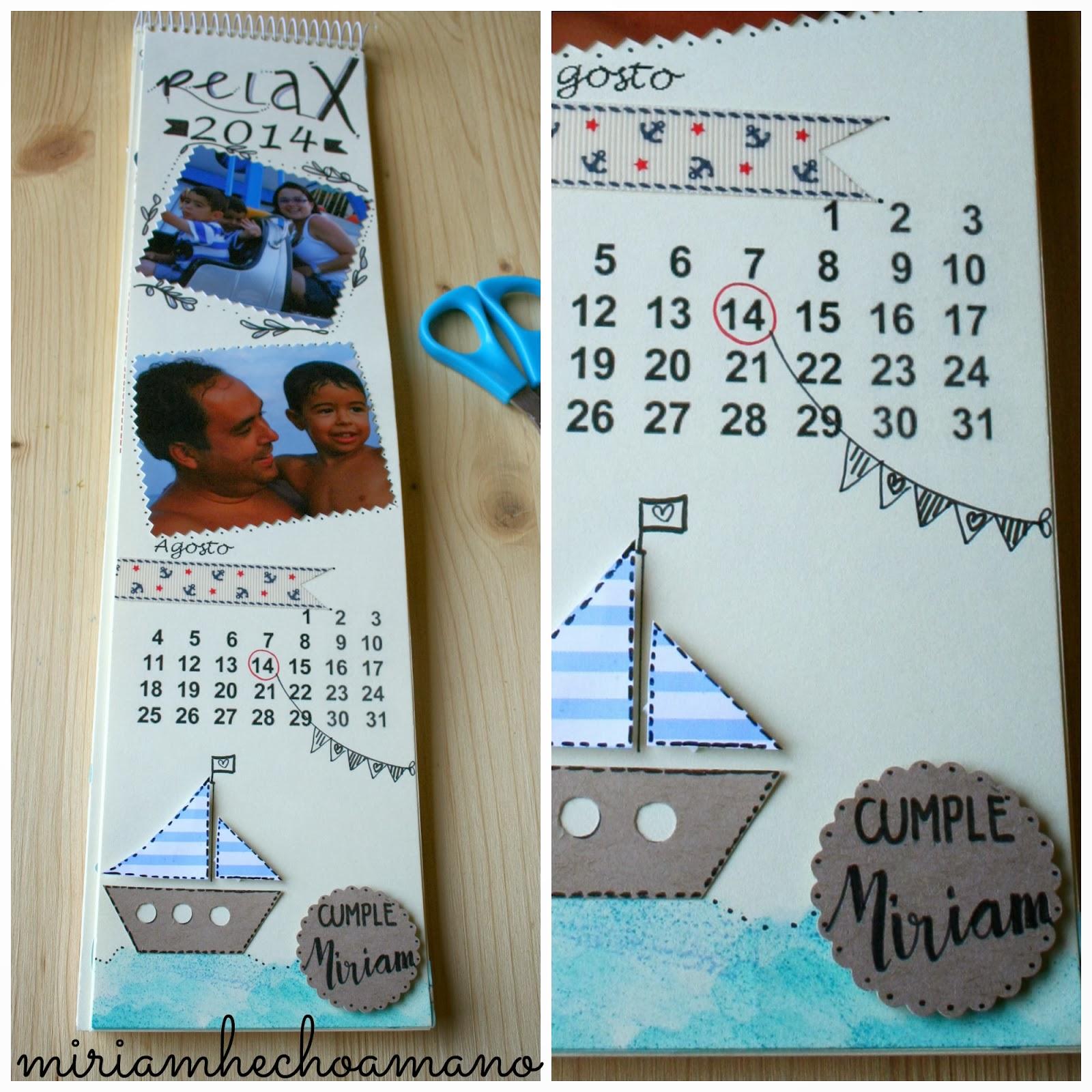 Miriam hecho a mano calendario del 2014 hecho a mano - Calendarios navidenos personalizados ...