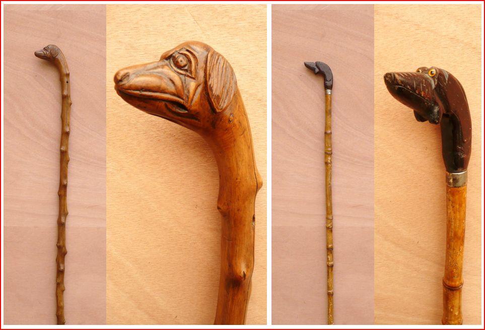 Vieux outils et art populaire canne d 39 art populaire animaux for Arts populaires