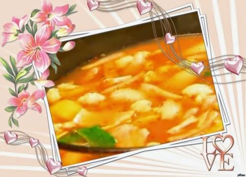 Azam Ramadan Su - Resepi bubur pulut hitam , daging goreng berlada dan tomyam seafood