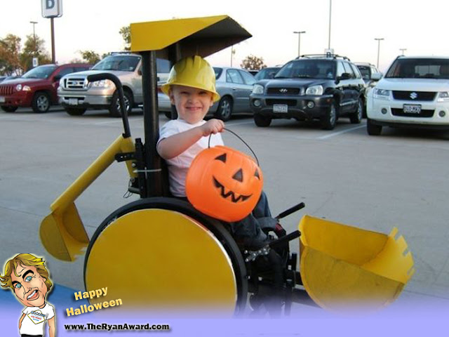 awesome Halloween Tractor Wheelchair costume