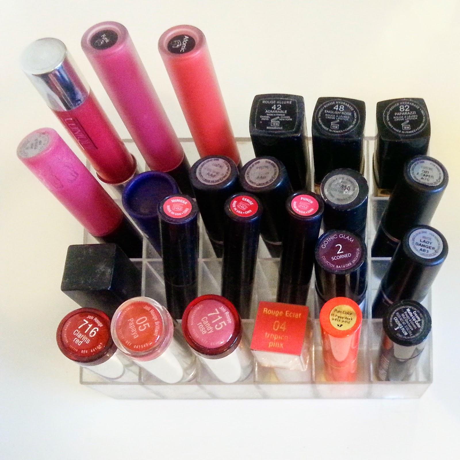 Makeup storage lipstick storage