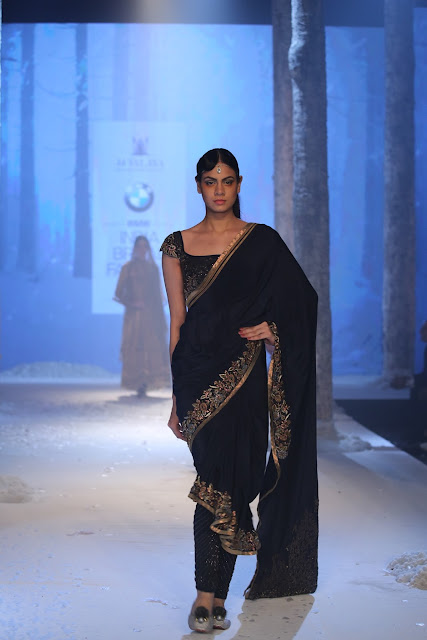 JJValaya-BMW-Indian-Bridal_Fashion-Week-black-saree