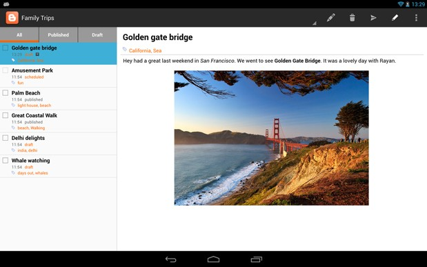 Google Blogger for Android gets Updated with WYSIWYG Editor
