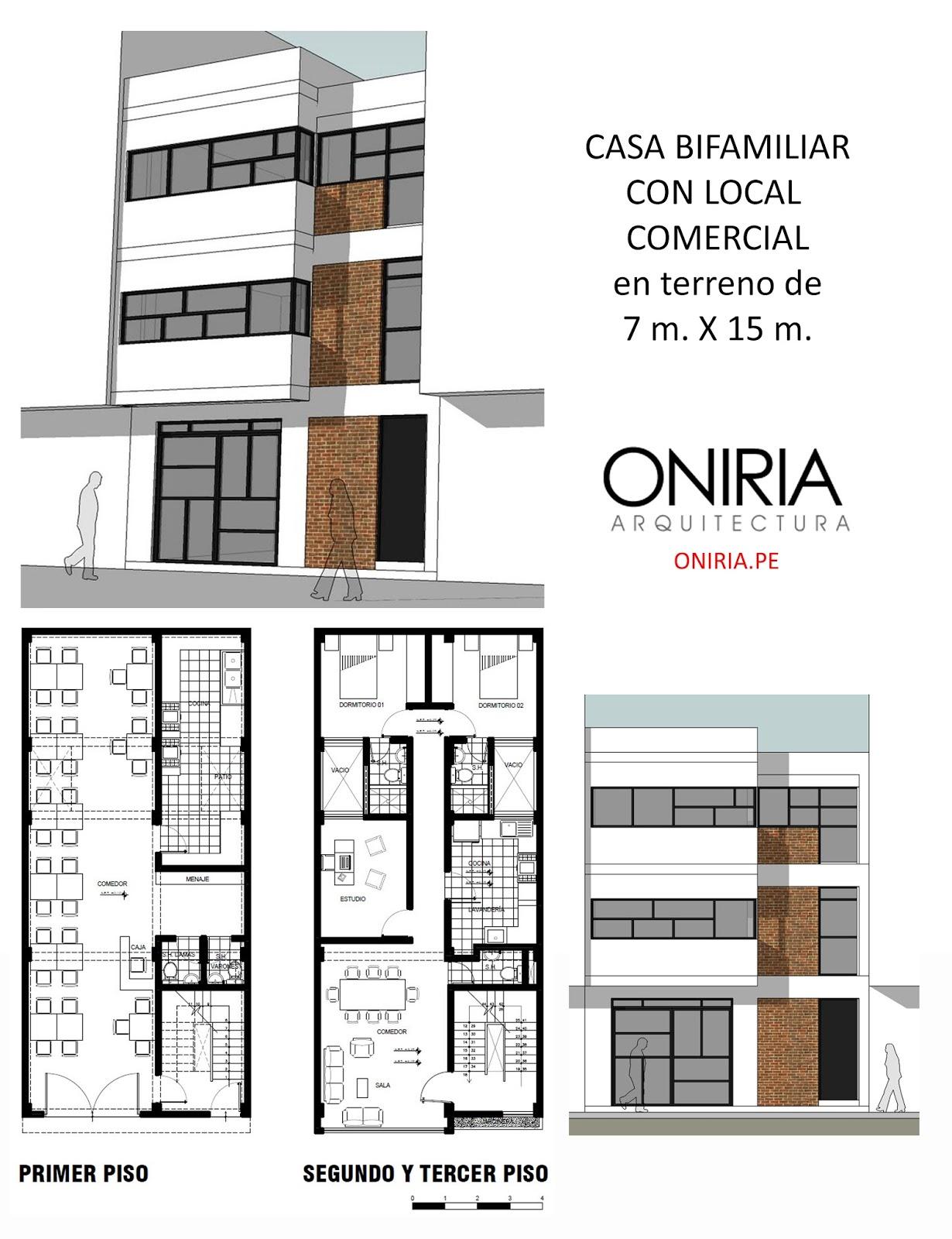 Oniria enero 2016 for Planos de casas 6x20