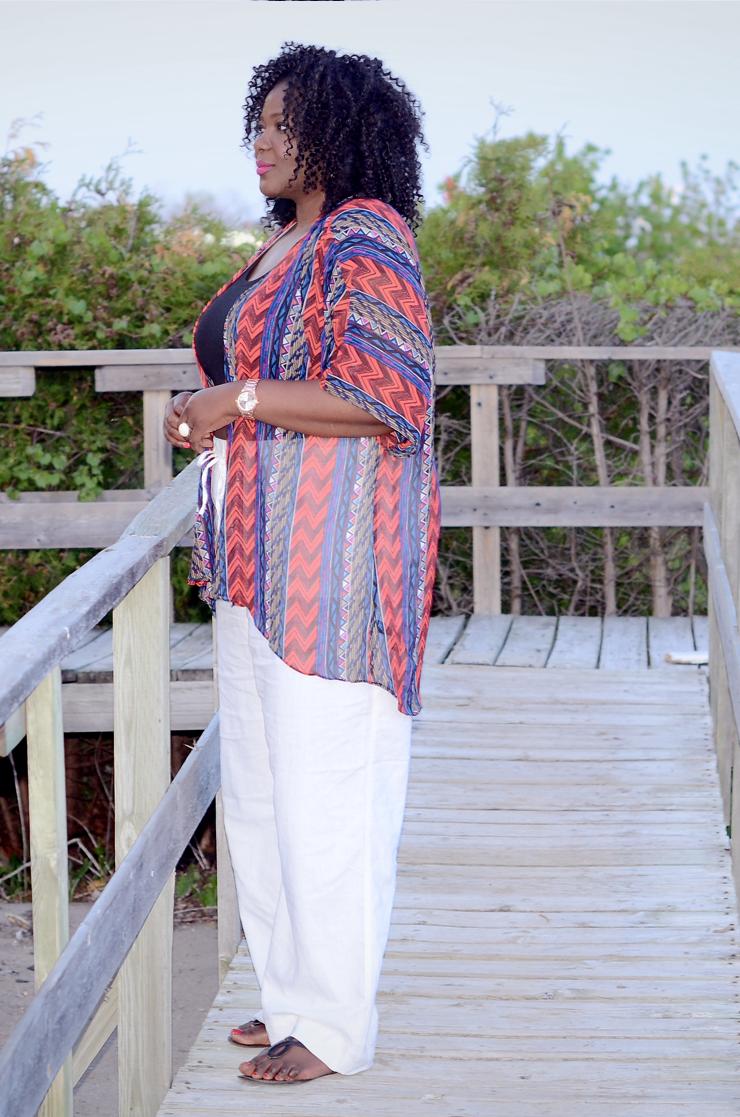 Trendy plus size fashion for women #kimono top