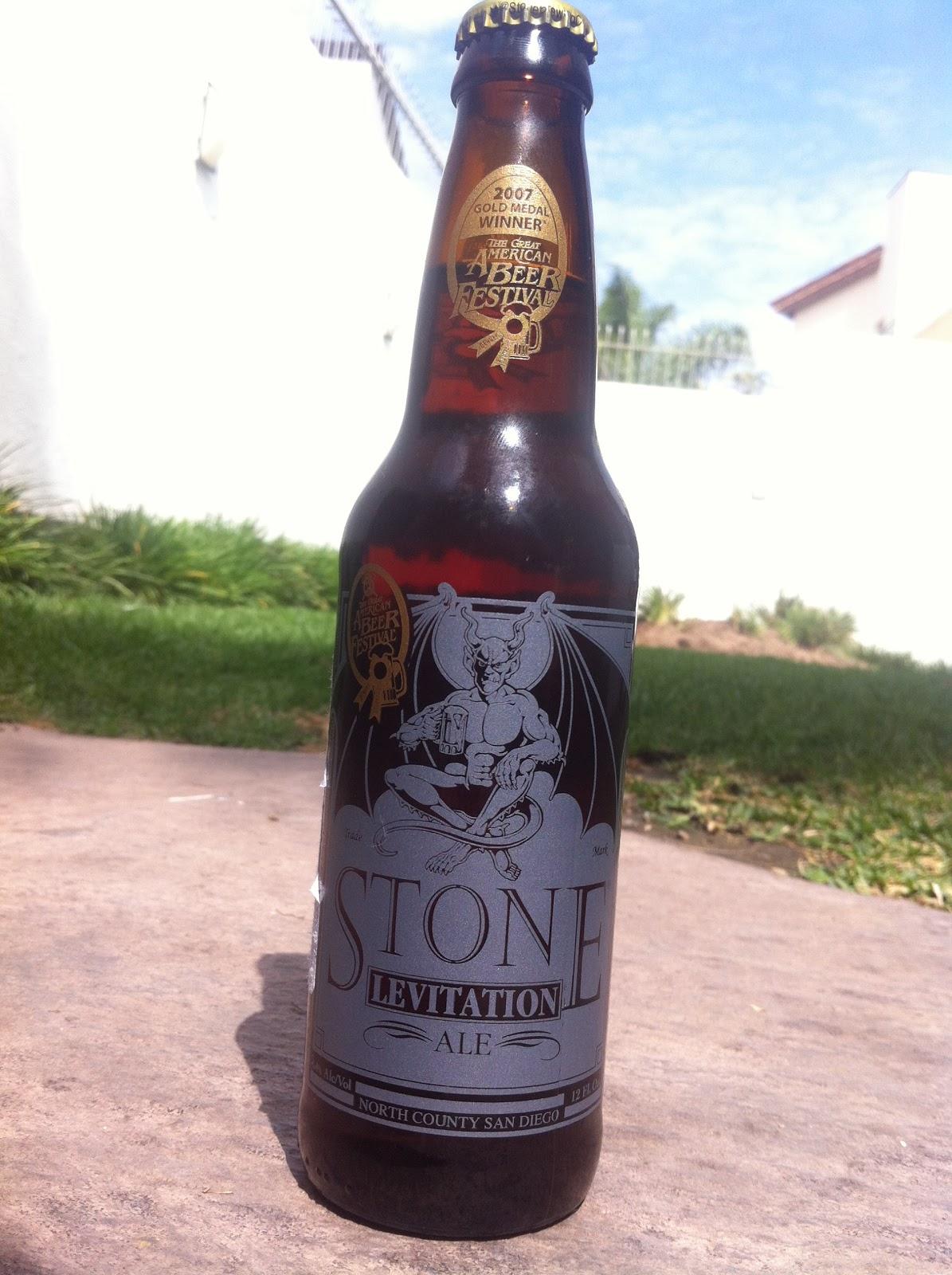 Stone Levitation Beer : Cosmos de la cerveza degustación stone levitation ale