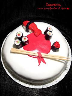 pasta di zucchero torta sushi
