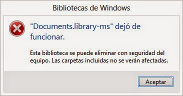 documentslibrary ms dejo de funcionar windows 8 soluccion With documents library ms dejo de funcionar