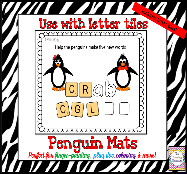 https://www.teacherspayteachers.com/Product/Penguin-Play-Dough-Mats-Alphabet-CVC-Word-Families-481353