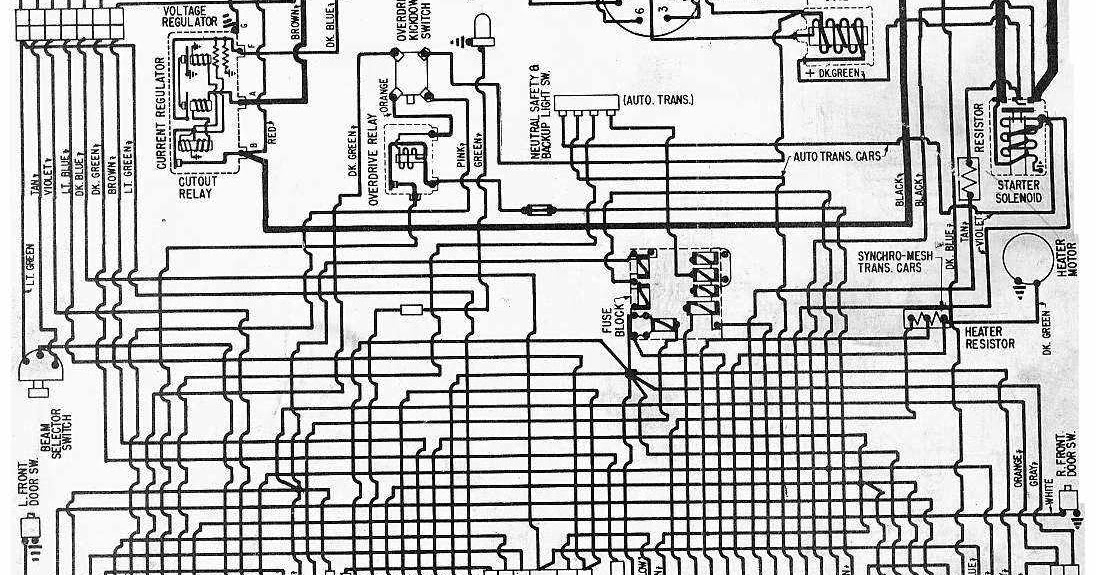 Wiring Schematic Of The 1957 Chevrolet V8