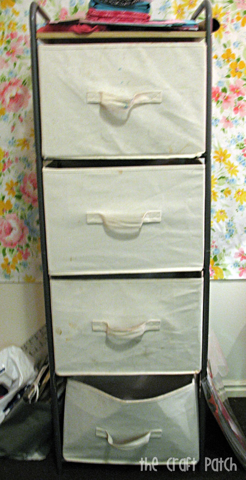 painted canvas bins