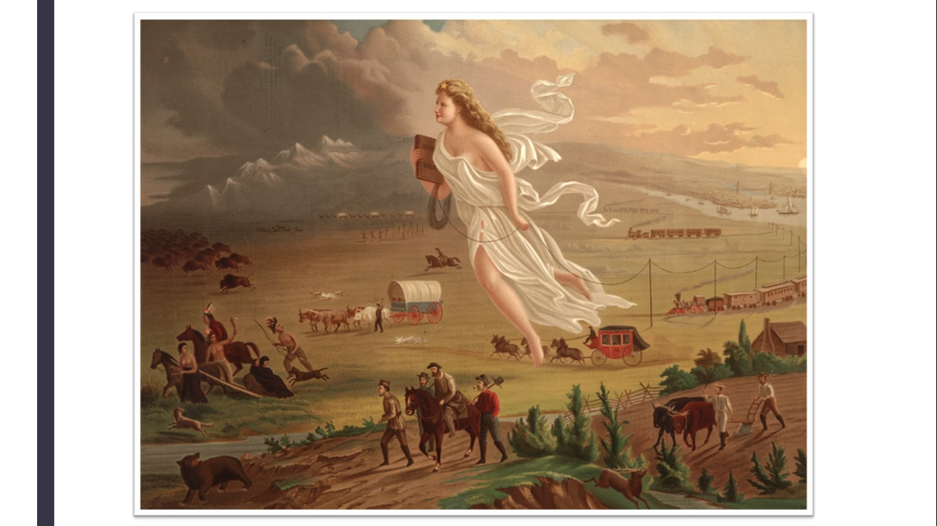 Westward Expansion Painting on Us History Nationalism