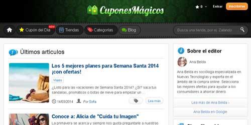web de cupones magicos