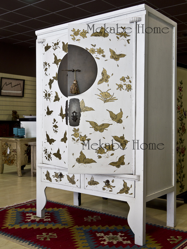 Artesanato Facil Para Vender ~ Armario de boda con motivos de mariposas elegancia oriental Mekabe Home