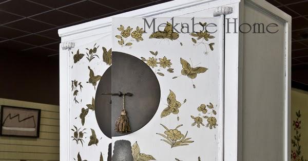 Mekabe home armario de boda con motivos de mariposas elegancia oriental - Armario de boda chino ...