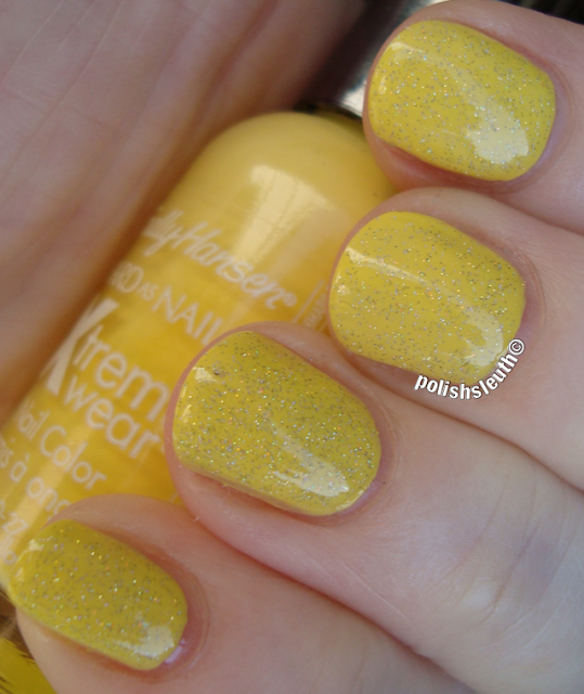 Sally Hansen's Mellow Yellow & China Glaze's Fairy Dust