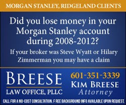 Jackson Jambalaya: Morgan Stanley loses local arbitration case