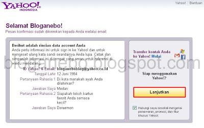 Langkah Ketiga Membuat Email Baru di Yahoo