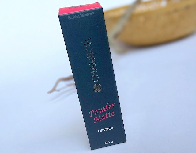 Chambor Powder Matte Lipstick-Sugar Pink