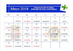 FARMACIAS MAYO 2018
