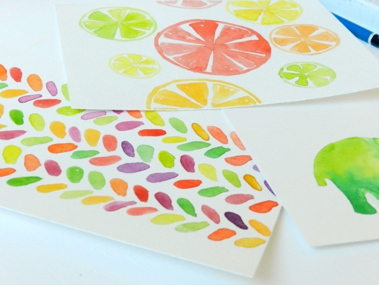 Original Watercolor Citrus Paintings: Elise Engh- Grow Creative