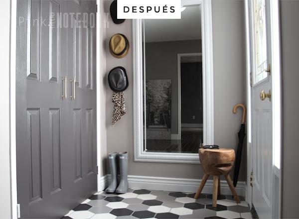 Deco el antes y el despu s de un recibidor decoraci n for Espejo hexagonal ikea