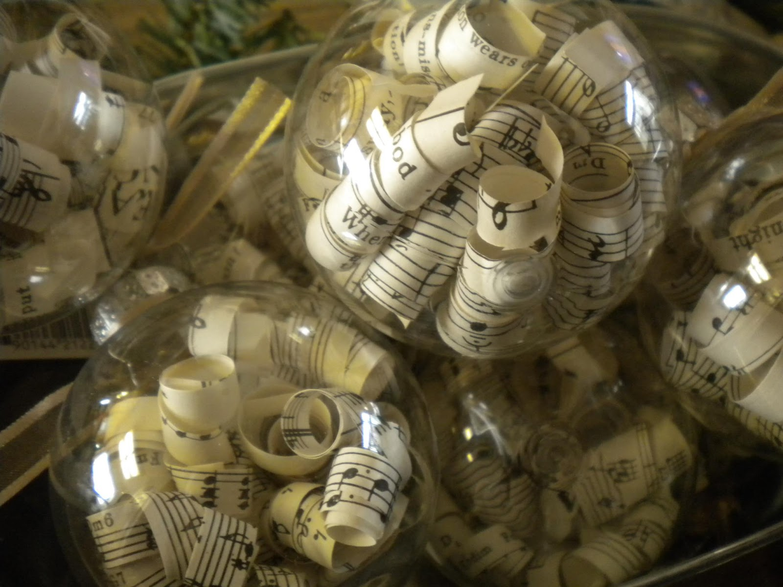 Christmas music ornaments - I Do Have A Crush On Anything Made With Sheet Music And Vintage Book Pages I Will Admit These Are Fun And Easy To Make But Are Very Time Consuming