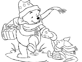 Eeyore Christmas Coloring Pages