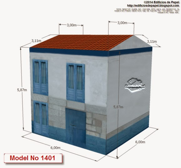 """Edificios de Papel"" Casa Marítima Azul Model no 1401"