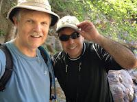 Dan Simpson and Tom Sanchez at Etiwanda Falls, San Gabriel Mountains