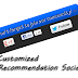 Customized Recommendation Social Widget for Blogger