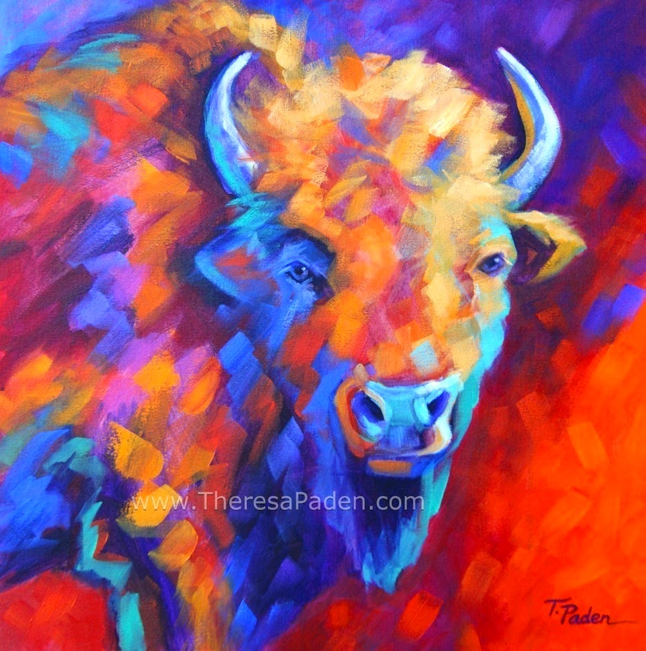 Paintings by theresa paden colorful wildlife art abstract for Abstract animal paintings