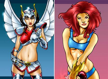 Superhéroes versión femenina