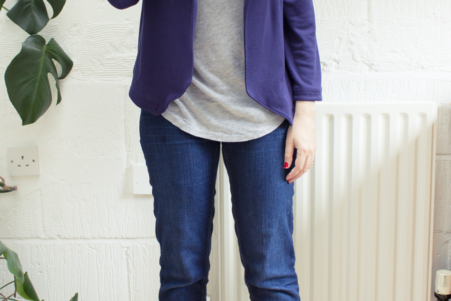 how to find grainline on knit fabric