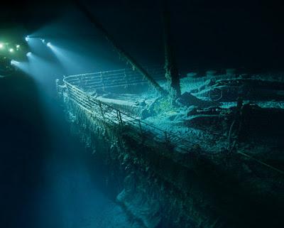 el titanic hundido
