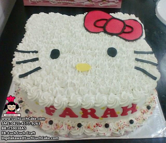 Kue Tart Hello Kitty 3D Lucu Daerah Surabaya, Sidoarjo, Gresik